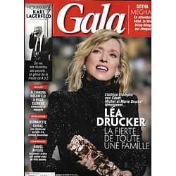 GALA n°1342 28/02/2019  Léa Drucker/ Karl Lagerfeld/ A.Rosenfeld & H.Clément/ Daniel Auteuil/ Dior/ Yarol Poupaud
