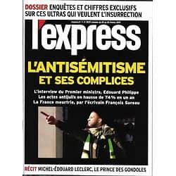 L'EXPRESS n°3529 20/02/2019  L'antisémitisme & ses complices/ Ces ultras qui défient l'Etat/ Leclerc, le prince des gondoles/ Taxer les riches/ Economie de la débrouille à Cuba