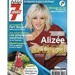 TELE 7 JOURS n°2822 28/06/2014  Alizée/ Fort Boyard/ Patrick Bruel/ Scandal/ Le Bihan-Fignon