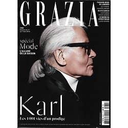 GRAZIA n°482 01/03/2019  Karl Lagerfeld, les 1001 vies d'un prodige/ Spécial mode/ Simon Porte Jacquemus/ Joshua K.Jackson/ Alexander McQueen