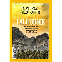 NATIONAL GEOGRAPHIC n°233 février 2019  Californie: le changement climatique, la Silicon Valley/ Kangourous d'Australie/ Lithium, ruée vers l'or blanc