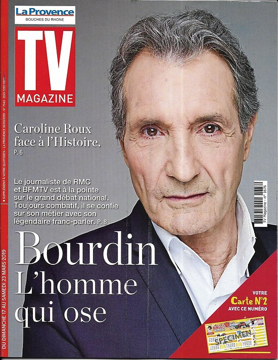 TV MAGAZINE 17/03/2019 n°1676  Jean-Jacques Bourdin/ Caroline Roux/ Odile Vuillemin/ Franck Gastambide (copy)
