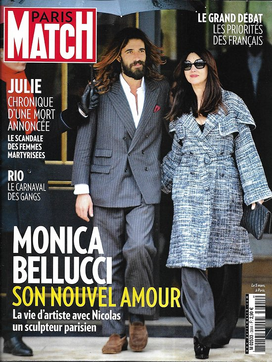 PARIS MATCH n°3644 14/03/2019  Monica Bellucci/ Grand débat/ Greta Thunberg/ Violences conjugales/ Alain Bashung/ Carnaval des gangs/ Camille Lacourt