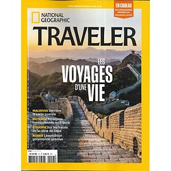 NATIONAL GEOGRAPHIC TRAVELER n°13 janv.-mars 2019  Les voyages d'une vie/ Maldives/ Guyane/ Ethiopie/ Russie