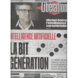 LIBERATION n°10829 16/03/2016  Intelligence Artificielle/ Michel Onfray/ Répression libyenne/ Migrants/ Banques en ligne