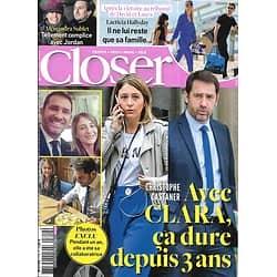 CLOSER n°719 22/03/2019  Christophe Castaner/ Laeticia Hallyday/ Hailey Baldwin & Justin Bieber/ Felicity Huffman & Lori Loughlin/ Clémence Castel