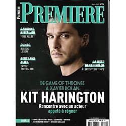 PREMIERE n°494 mars 2019  Kit Harington/ Xavier Dolan/ Sandrine Kiberlain/ Dumbo/ La liste de Schindler