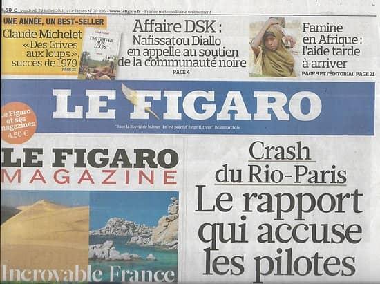 LE FIGARO n°20836 29/07/2011  Crash du Rio-Paris AF-447/ Famine en Somalie/ Affaire DSK/ Churchill/ Orange low-cost: Sosh