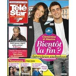 """TELE STAR n°2218 06/04/2019 """"Demain nous appartient"""" Linda Hardy & Clément Rémiens/ Franck Dubosc/ Shy'm/ Patrick Cohen/ Rihanna/ Camille Cerf"""