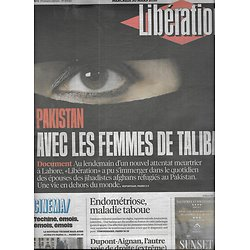 LIBERATION n°10840 30/03/2016  Avec les femmes de talibans/ FBI vs Apple/ Endométriose/ Dupont-Aignan/ Téchiné