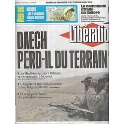 LIBERATION n°10838 26/03/2016  Daech perd-il du terrain?/ La campagne d'italie de Bolloré/ Barbie/ BD western