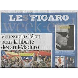 LE FIGARO n°23181 22/02/2019  Venezuela: l'élan pour la liberté/ Les critiques de Macron/ Innovations téléphonie mobile/ Le cognac bientôt à l'Unesco
