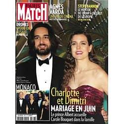 PARIS MATCH n°3647 04/04/2019  Charlotte Casiraghi & Dimitri Rassam, mariage en juin/ Agnès Varda, une vie de cinéma/ Drones: opération au Sahel/ Miss France en mission