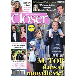 CLOSER n°721 05/04/2019  Raphaël Glucksmann & Léa Salamé/ Laura Smet/ Charlotte Casiraghi/ Christian Quesada/ Kate & William