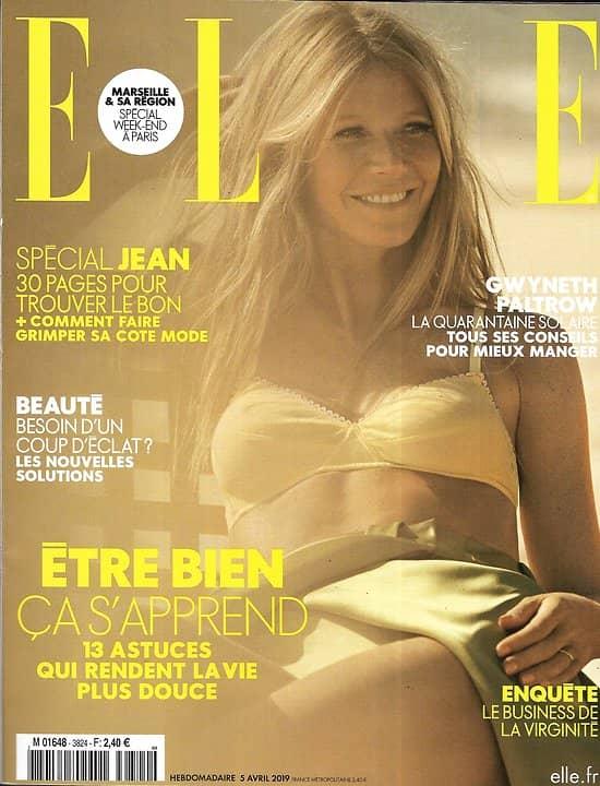 ELLE n°3824 05/04/2019  Gwyneth Paltrow/ Spécial jean/ Agnès Varda/ Los Angeles/ Néocuisine asiatique