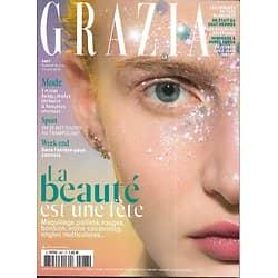 GRAZIA n°487 05/04/2019  La beauté est une fête/ Exilés du Nicaragua/ Agnès Varda/ Saut Hermès/ Weyes Blood/ Opio/ Lignac