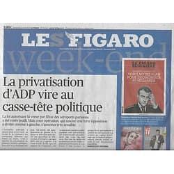 LE FIGARO n°23222 12/04/2019  Privatisation d'ADP/ Picasso/ Benoît XVI/ Immigration/ Soudan/ Infractions/ Baer