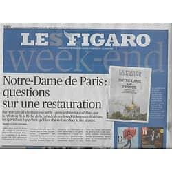 LE FIGARO n°23228 19/04/2019  Notre-Dame-de-Paris: questions sur une restauration/ Jeunesse algérienne/ Retraite à 64 ans/ Keren Ann & David Byrne