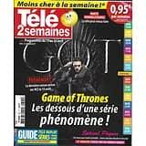 TELE 2 SEMAINES n°399 13/04/2019  Game of Thrones: la série phénomène, la saison 8