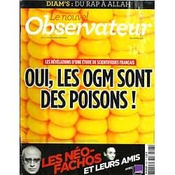 LE NOUVEL OBSERVATEUR n°2498  20/09/2012  OGM=Poison/ Néo-Fachos/ Les cadres/ Morale laïque/ Diam's