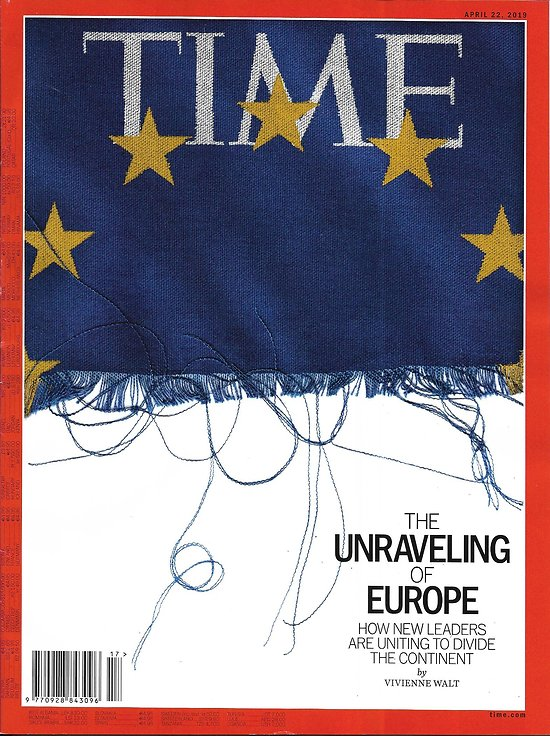 TIME VOL.193 n°15 22/04/2019  The unraveling of Europe/ Water crisis in Flint/ Female scientist Lederberg legacy/ Feminist Hip-Hop