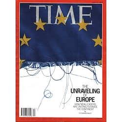 TIME VOL.193 n°15 22/04/2019  The unraveling of Europe/ Water crisis in Flint/ Female scientist Lederberg legacy/ Feminist Hip-Hop