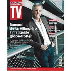 """TV MAGAZINE 28/04/2019 n°1682  Bernard de la Villardière/ Marie Drucker/ """"Eden""""/ Eric Antoine """"Together""""/ Parcs d'attractions"""