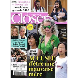 CLOSER n°723 19/04/2019  Laeticia Hallyday/ Céline Dion/ Line Renaud/ Tatiana Silva/ Robert Downey Jr/ George & Charlotte de Cambridge/ Michelle Obama