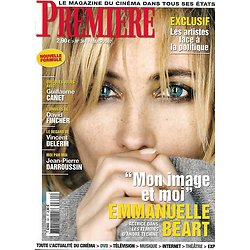 PREMIERE n°361 mars 2007 Emmanuelle Béart/ JP Darroussin/ David Fincher/ Gong Li/ Vincent Delerm/ Guillaume Canet
