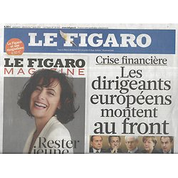 LE FIGARO n°20843 06/08/2011  Crise financière/ AF 447/ Mediator/ Solitaire du Figaro/ Yves Montand