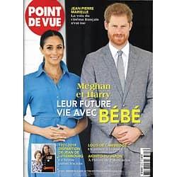 POINT DE VUE n°3693 30/04/2019  Meghan & Harry/ Jean-Pierre Marielle/ Jean de Luxembourg