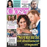 CLOSER n°726 10/05/2019  Harry & Meghan/ Royal baby/ Anémone/ Ingrid Chauvin/ Charlize Theron/ Castaner/ Lily-Rose Depp