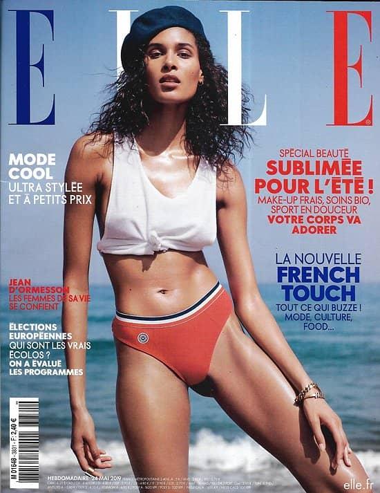 ELLE n°3831 24/05/2019  Cindy Bruna/ Spécial Beauté/ French touch/ Jean d'Ormesson/ Egyptiennes/ Ecologie