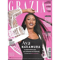 GRAZIA n°495 31/05/2019  Aya Nakamura/ Voyages bien-être/ Ba&sh/ Bryce dallas Howard/ Ernie LaPointe/ Menace sur l'IVG