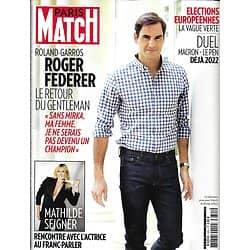 PARIS MATCH n°3655 29/05/2019  Roger Federer, le retour du gentleman/ Mathilde Seigner/ Elections européennes/ Elton John/ Amal Clooney