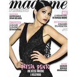 MADAME FIGARO n°20926 12/11/2011 Freida Pinto/ Julien Clerc/ Julien Doré/ V anessaBruno