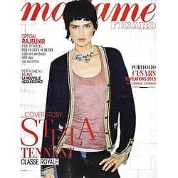 MADAME FIGARO n°21287 11/03/2013  Stella Tennant/ Spécial Rajeunir/ Espoirs Césars/ Jenifer Lawrence
