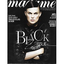 MADAME FIGARO n°21305 01/02/2013  The Black Issue/ Joaillerie/ Audrey Fleurot/ Série noire