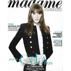 MADAME FIGARO n°21377 26/04/2013   Carla Bruni/ Christophe/ Marc Jacobs/ Mia Wasikowska