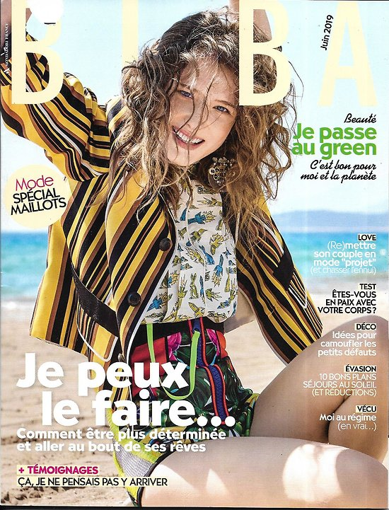 BIBA (Pocket) n°471 juin 2019  Etre déterminée/ Je passe au green/ Doria Tillier/ Spécial maillots