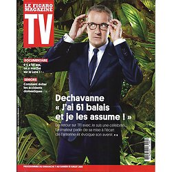 TV MAGAZINE 07/07/2019 n°1692  Dechavanne/ Apollo 11/ Marrakech du rire/ Tony Yoka/ Voltaire/ Accidents domestiques