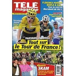 TELE MAGAZINE n°3322 06/07/2019  Le Tour de France/ Marion Rousse/ Skam/ Florence Foresti/ Véronique Jannot/ Apollo 11