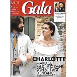 GALA n°1360 04/07/2019  Charlotte Casiraghi & Dimitri Rassam/ Nicolas Sarkozy/ Pamela Anderson/ Albert II & Maud Fontenoy
