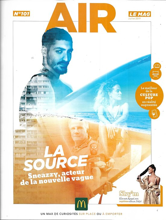 "AIR LE MAG n°101 juillet 2019  ""La source""/ Sneazzy/ Shy'm/ Jonas Brothers/ ""Stranger Things""/ We Love Green"