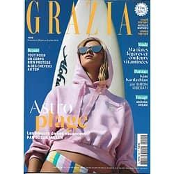 GRAZIA n°499 28/06/2019  Astro plage/ Kim Kardashian/ Surfer girl/ Arizona/ Louise Trotter/ Philippe Zdar