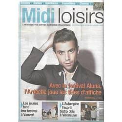 MIDI LOISIRS n°403 07/06/2013  Mika/ Festival Aluna/ M/ Chedid/ L'Aubergine