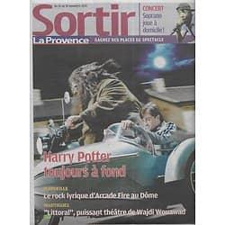 SORTIR n°4911 24/11/2010  Harry Potter/ Soprano/ Arcade Fire/ Kitano/ Mouawad