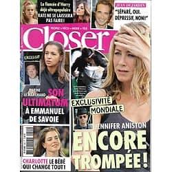 CLOSER n°440 15/11/2013  Jennifer Aniston/ Karine Le Marchand/ Jean Dujardin/ Charlotte Casiraghi