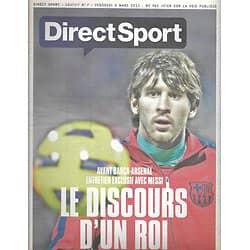 DIRECT SPORT n°7 04/03/2011  Lionel Messi/ Fabien Barthez/ les Schleck/ Martin Fourcade/ Sebastian Vettel/ Megan Fox