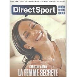 DIRECT SPORT n°9 18/03/2011  Christine Aron/ Spécial femmes/ Caroline Wozniacki/ Federica Pellegrini/ Cécile Bertin/ Kate Upton/ Fabienne d'Ortoli